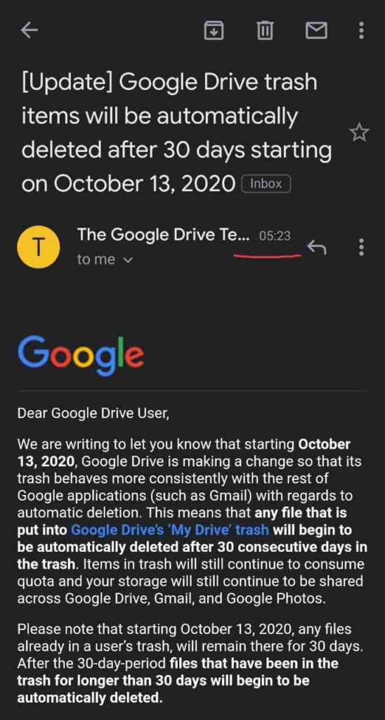 google drive latest update 2020